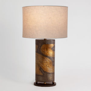 Brass and Bronze Table Lamp