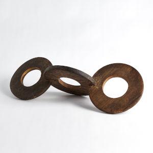 Brown Triple Chapati Marker Decorative Object