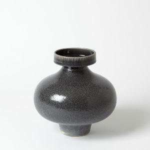 Nova Reactive Grey 10-Inch Short Vase
