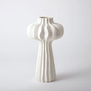 Lithos White 10-Inch Large Vase
