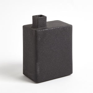 Studio A Home Black Large Square Chimney Vase