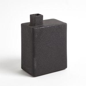 Studio A Home Black Large Square Chimney Vase