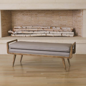 Lucas Grey 18-Inch Long Bench