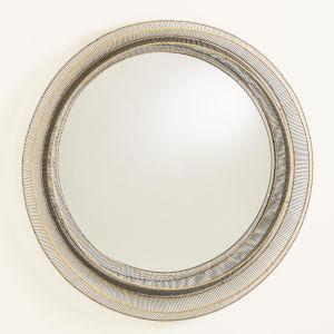 Natural Iron 39-Inch Wire Ribbon Mirror