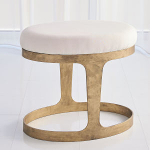 Antique Gold 15-Inch Stool