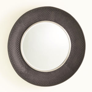 Milan Brushed Nickel 42-Inch Round Mirror
