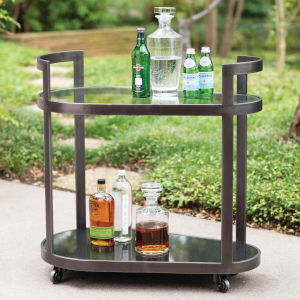 Regan Antique Gunmetal 18-Inch Bar Cart