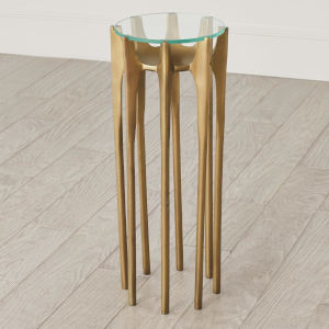 Aquilo Antique Brass 10-Inch Accent Table