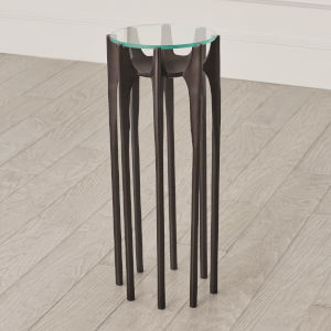 Aquilo Oil Rubbed Bronze 10-Inch Accent Table