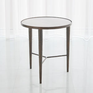 Hammered Antique Brass 22-Inch End Table