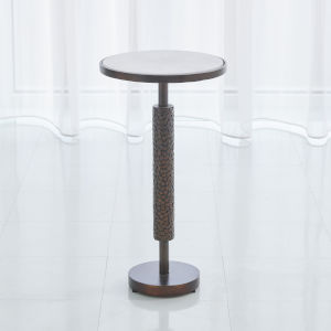 Hammered Antique Brass 12-Inch Martini Table