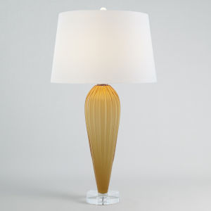 Amber Teardrop Glass Table Lamp