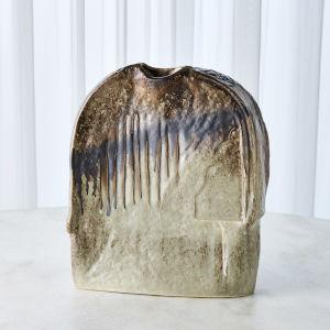 Green 13-Inch Artisan Vase