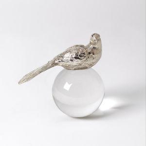 Nickel Three-Inch Bird Figurine