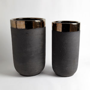 Studio A Home Bronze Large Banded Container