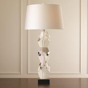 Studio A Home Clear Triple One-Light Facet Block Table Lamp