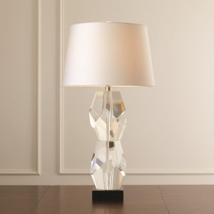 Studio A Home Clear Double One-Light Facet Block Table Lamp