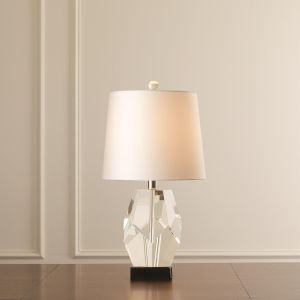Studio A Home Clear Single One-Light Facet Block Table Lamp