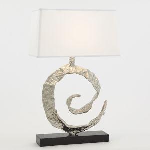 Nickel and Black Granite Swirl Accent Lamp