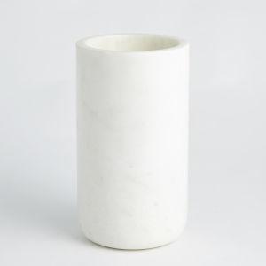 White 6-Inch Marble Vase