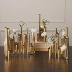 Brass 10-Inch Multi Pipe Vase
