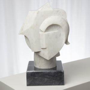 Abstract Marble Bust Figurine