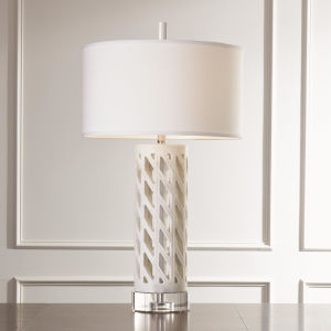Diamond White One-Light Table Lamp