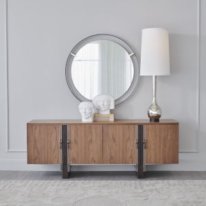 Natural Iron 42-Inch Floating Mirror