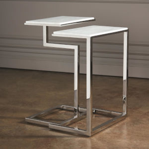 Nickel 10-Inch C-Nesting Tables