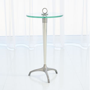 Gunmetal and Nickel 12-Inch Tripod with Loop Handle Table