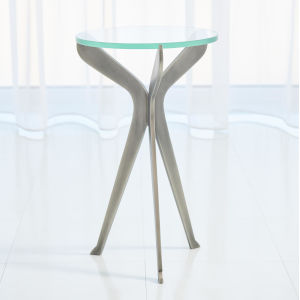 Gunmetal 12-Inch Slice Tripod Table