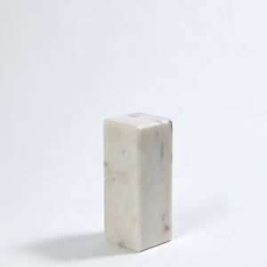 Studio A Home White Medium Marble Riser