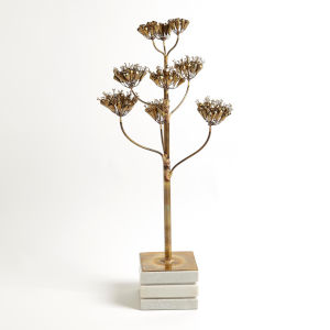 Studio A Home Brass Small Blooming Century Plant Sculpture