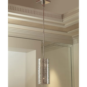 Polished Nickel Coil Two-Light Pendant