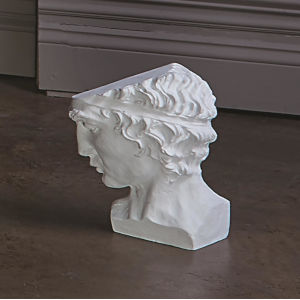 Roman Cast Aluminum Man Head Figurine