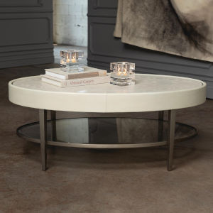 Ellipse Ivory Cocktail Table