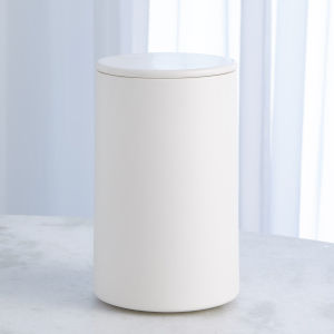 Studio A Home Chalk White Large Encircle Canister with Cork Lid