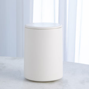 Studio A Home Chalk White Medium Encircle Canister with Cork Lid