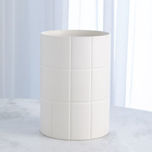 Studio A Home Chalk White Large Encircle Vase