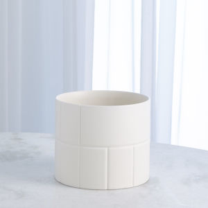 Studio A Home Chalk White Small Encircle Vase