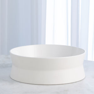 Studio A Home Chalk White Large Encircle Scored Bowl