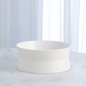 Studio A Home Chalk White Small Encircle Scored Bowl
