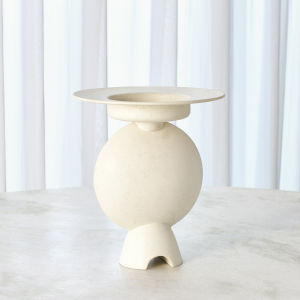 Studio A Home White Camille Geometric Vase