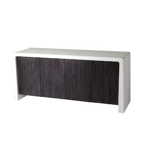 Studio A Home White and Black Karl Cabinet
