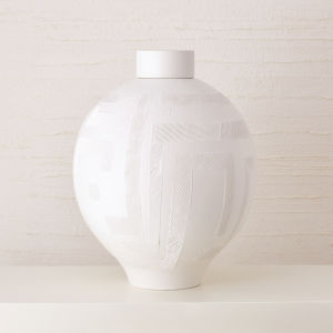 Studio A Home Matte White Chaco Lidded Jar