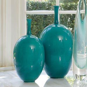 Ovoid Small Sea Blue Vase