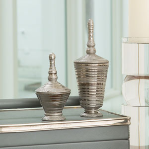Nifty Small Silver Lidded Jar