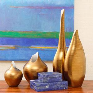 Golden Stripe Medium Vase