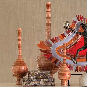 Japan Orange Large Vase