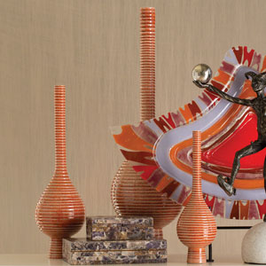 Japan Orange Small Vase